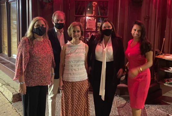 (from left to right) Panamanian Ambassador Carmen Gisela Vergara, Louisiana Consular Dean and Honorary Consul General of Albania Bret Clesi, Patrice Clesi, Panamanian Consul General in New Orleans Estefania Cheng P., and Yelsica H. Caballero, Panamanian Coordinator of Mission.